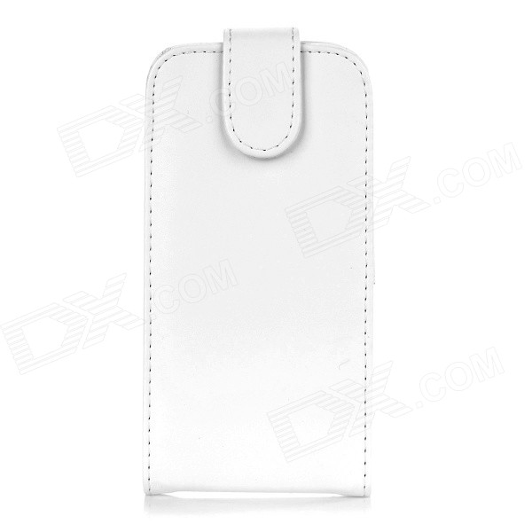 PU + PC Case Cover w/ Card Slot for Samsung S6 G9200 / G9208 - White