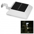 0.8W Waterproof Solar Powered Human Body Induction Gutter / Wall / Fence Lamp 6500K 30lm (1.2V)