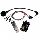 Geeetech Voice Recognition Module kit Microphone + USB to RS232 TTL Module + Jumper Wire - Black+Red