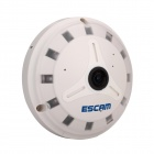 ESCAM Fisheye QP130 1.3MP 960P P2P IP Camera - Grey (US Plugs)