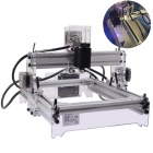 NEJE 500mW Desktop Violet Laser Engraving Machine Printer DIY Kit - Silver + Transparent