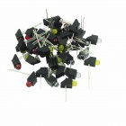 DIY Red + Yellow + Green + Emerald Light LED Power Indicator for Lamp Holder (40 PCS)