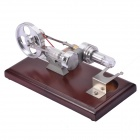NEJE DIY 4*LED Stirling Engine Educational Puzzle Toy - Silver + Brown