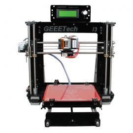 Geeetech I3 3D Printer - Black + Red + Multi-Colored