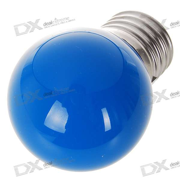 E27 0.7W 30 Lumen Light Blue LED Globular Bulb (85 ~ 265V AC)