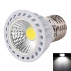 WaLangTing E27 3W 250lm 6500K White Light Twill COB-LED-Scheinwerfer-Lampe - Weiß + Silber