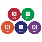 Universal Tag Sticker Ntag213 144 Bytes w/ Smart NFC - Red + Green + Blue + Orange + Purple (5 PCS)