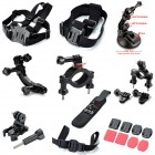 TOZ GP2-005K 10-in-1 Professional Accessories Kit for GoPro Hero 4 / 3+ / 3 / 2 / 1 - Black