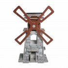 DIY Windmill Style Color Foam Plate Solar Assembly Jigsaw Toy - Brown + Deep Grey