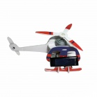 DIY Foam Board Solar Powered Assembly Helicopter Toy - Blue + Red