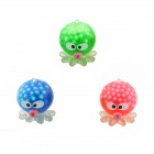 Pressure Reducing Stress Reliever Octopus Toy - Red + Blue + Multi-Color (3 PCS)