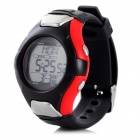 "0.9"" Screen Digital Sports Watch w/ Calorie / Heart Rate Monitor - Red + Black (1 x CR2032)"
