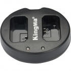 Kingma BM015-EL14 Dual USB Charger for Nikon EN-EL14 Battery - Black
