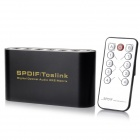 NK-T42 SPDIF / TosLink Digital Optical Audio 4 x 2 Matrix Switcher Converter - Black