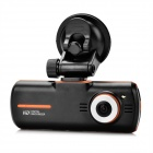 "2.7"" TFT 1080P HD CMOS 140' Wide-Angle 2-Lens LED IR Night Vision Car DVR Recorder Camcorder - Black"