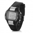 "0.9"" Screen Digital Sports Watch w/ Calorie/Heart Rate Monitor - Antique Silver + Black (1 x CR2032)"