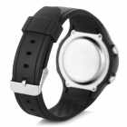 001 Men's Calorie Heart Rate Monitor Digital Sports Watch- Black