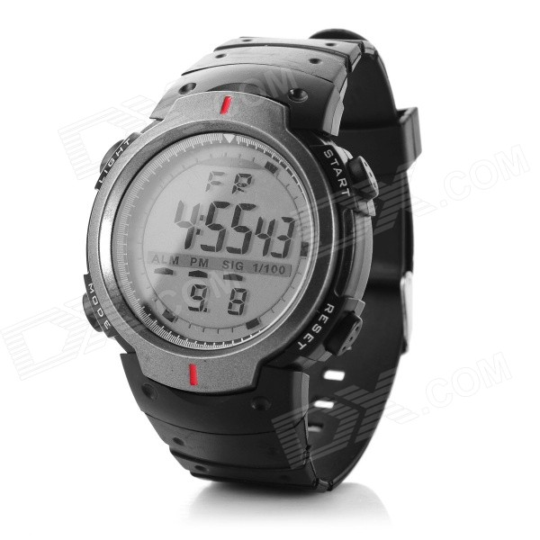 Men's Water-resistant Digital LED Watch - Black + Grey (1*CR2025)