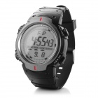 Men's Water-resistant Digital Sports Watch w/ LED Light - Black + Grey (1 x CR2025)