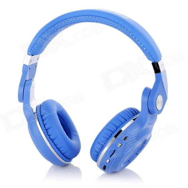 Bluedio T2+ Bluetooth V4.1 Rotatable HiFi Headphone w/ TF / FM - Blue