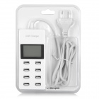"5V 9.2A 8-Port USB 2.0 Charger w/ 1.8"" LED Display - White"