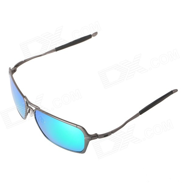 OX4029 UV400 Alloy Frame Polarized Sunglasses - Grey + REVO Green
