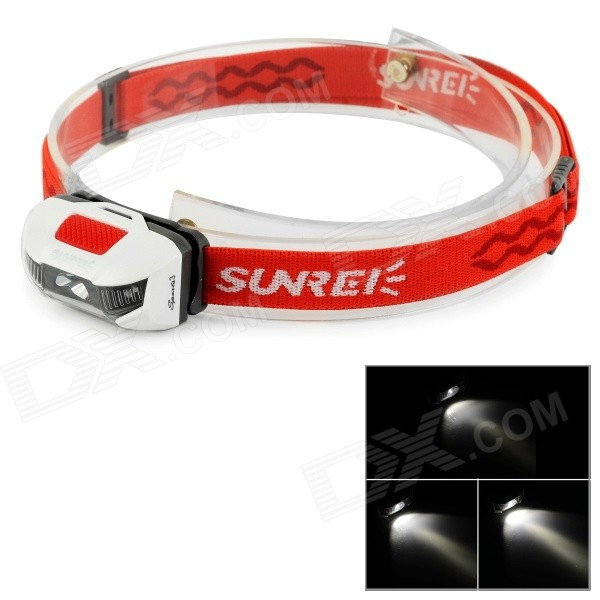 SUNREE SPORTS3 115lm XP-G2 R4 3-LED 6-Mode IPX8 Headlight - Red