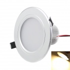 KINFIRE 7W Dimmable Ceiling Light Warm White 3000K 580lm SMD 5730 w/ LED Driver - White (AC 220V)