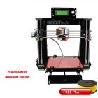 Geeetech I3 3D Printer Kit Free PLA - Black + Blue + Multi-Colored
