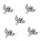 MOXO B270 Stylish Owl Style Ornament Pendant - Silver (43 x 54mm, 5 PCS)