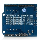 Waveshare 4 DC Motors / 2 Stepping Motors Driver Board Module / Control Shield for Arduino - Blue