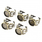 MOXO C2092 DIY Antique Retro Adjustable 12mm Brass Plating Ring Base - Brass (5 PCS)