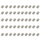 MOXO C6596 Cute Stylish Owl Style Pendant Ornament - Silver (9 x 10mm, 50 PCS)