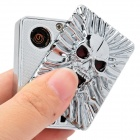 GLT-065 Skull Head Pattern USB Windproof Electronic Lighter - Silver