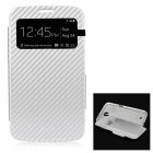 Protective PU + TPU Case w/ Visual Window for Samsung i9200 / i9208 - Silver