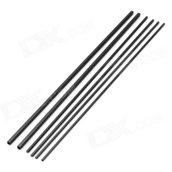 A-3 DIY Square Carbon Fiber Bar Rod for Model Airplane (6PCS)Other Accessories for R/C Toys<br>Form ColorBlackModelA-3MaterialCarbon fiberQuantity6 DX.PCM.Model.AttributeModel.UnitCompatible ModelModel airplane stiffenerPacking List2 x 1.7X1.7X200mm rods2 x 2X2X200mm rods2 x 3X3X200mm rods<br>