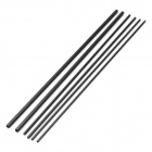 A-3 DIY 1.7x1.7x200mm, 2x2x200mm, 3x3 20mm Square Carbon Fiber Bar Rod for Model Airplane (6 PCS)