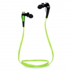 Bluedio Q5 Bluetooth V4.1 In-Ear Sports Headphone Headset w/ Mic - Green