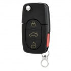 3+1 Button Foldable Key Case Cover for Audi - Black