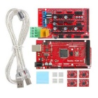 Geeetech Iduino Mega 2560 R3 Board + Ramps1.4 Shield + 4 x 4988 Stepstick Driver for 3D Printer- Red