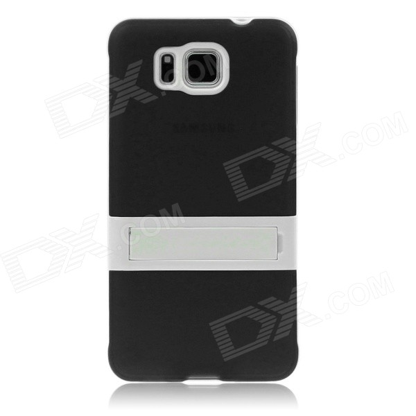 ENKAY TPU Back Case w/ Stand for Samsung Galaxy Alpha G850 - Black