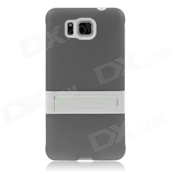 ENKAY TPU Case w/ Stand for Samsung Galaxy Alpha G850 - GreyTPU Cases<br>Form  ColorGreyQuantity1 DX.PCM.Model.AttributeModel.UnitMaterialTPUShade Of ColorGrayCompatible ModelsSamsung Galaxy Alpha G850DesignSolid Color,With StandStyleBack CasesPacking List1 x Back case<br>