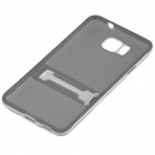 ENKAY Protective TPU Case w/ Stand for Samsung Galaxy Alpha G850 - Grey