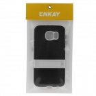 ENKAY Protective TPU Case w/ Stand for Samsung Galaxy S6 G9200 - Black