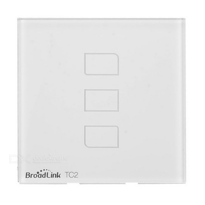 Broadlink e-touch TC2 painel remoto switch touch com RF 433, 3-CH