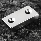 NdFeB Rectangle Shaped Magnet w/ Two Hole- Silver (50*30*10mm)