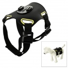 Ultra-thin Pet Dog Chest Belt w/ Mount Set for GoPro Hero 4 / 3+ / 3 / 2 / 1 - Black + Yellow