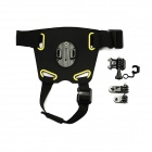Pet Dog Chest Belt w/ Mount for GoPro Hero 4 3+ 3 2 - Black + Yellow