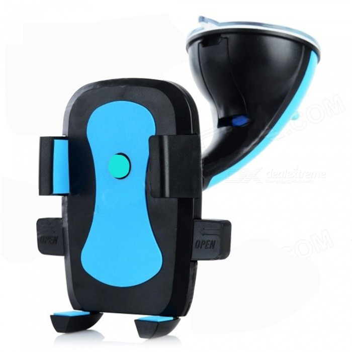 CKQ-027 360' Rotation Car Mounted Holder w/ Suction Cup - Black + Blue