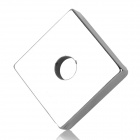 NdFeB Square Shaped Single Hole Magnet - Silver (40*40*10mm)